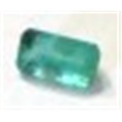 .30 ct Natural Columbian Emerald Cut & Faceted!!!!