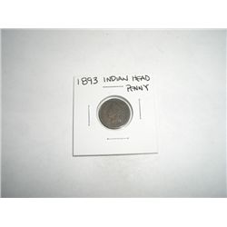 1893 Indian Head Penny - NICE COIN *PLEASE LOOK AT PICTURE  TO DETERMINE GRADE*!!