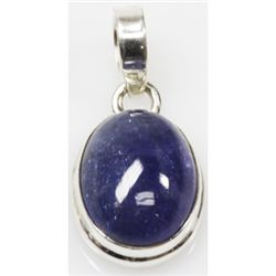 Natural 3.49g Tanzanite .925 Sterling Silver Pendant