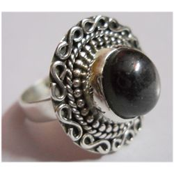 Natural Semi Precious Oval .925 Sterling Silver Ring