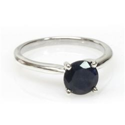 Natural 1ctw Sapphire .925 Sterling Silver Ring
