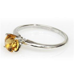 Natural 1.75ctw Citrine .925 Sterling Silver Ring