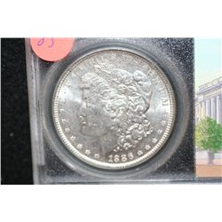 1886 Silver Morgan $1, BU, Global Certification Services, Inc.