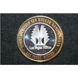 Las Vegas Hilton Limited Edition Two-Tone $10 Gaming Token, .999 Fine