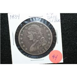 1834 Liberty Bust Half Dollar, Lg. Date Letters