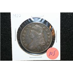 1822 Liberty Bust Half Dollar