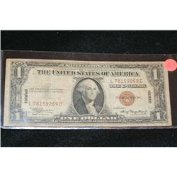 1935-A US Silver Certificate $1, Brown Seal Hawaii Bill, #L78159269C