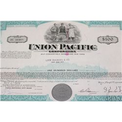 Union Pacific Corp. Stock Certificate dated 1976