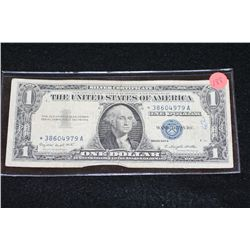 1957-A US Silver Certificate $1, Blue Seal, # *38604979A; Star Note
