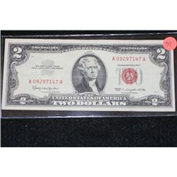 1963 United States Note $2, Red Seal, #A09297147A