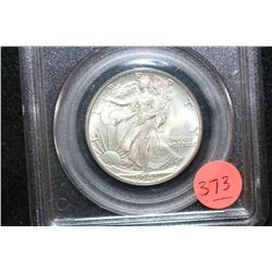 1941 Walking Liberty Half Dollar, PCGS Graded MS65