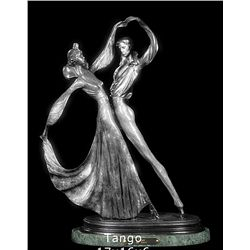 Original Fine Silver Sculpture - Tango by Icart