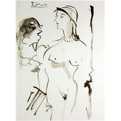Original Watercolor Signed Picasso