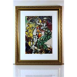 Marc Chagall Original Lithograph - Adam and Eve