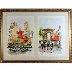 Limited Edition Lithographs Set by Artist Urbain Hutchet