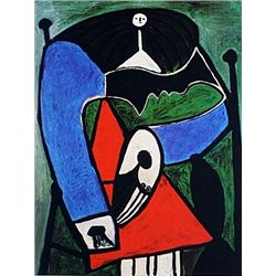 Limited Edition Picasso - Seated Woman - Collection Domaine Picasso