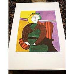 Picasso Signed and Numbered Lithograph - Red Armchair #50