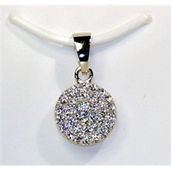 Lady's Fancy Sterling Silver White Sapphire Pendant