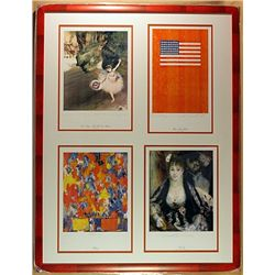 4 Pieces Color Lithograph