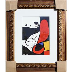 Woman and Birds in a Landscape  - Miro - Limited Edition
