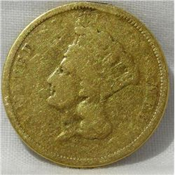 Indian Princess Head Three Dollar $3 Gold Coin