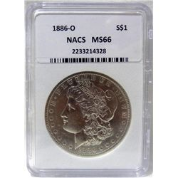1886-O Morgan Silver Dollar NACS MS-66