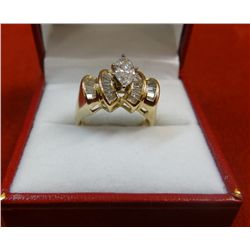 Womens 14kt Yellow Gold Diamond Ring