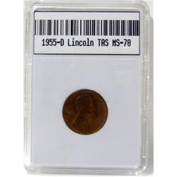 1955-D Lincoln Penny TAS MS-70