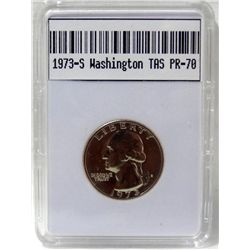 1973-S Washington Quarter TAS PR-70