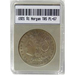 1921 Morgan Silver Dollar TAS PL-67