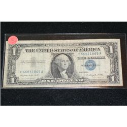 1957-A US Silver Certificate $1, Blue Seal, # *66811865A (Star Note)