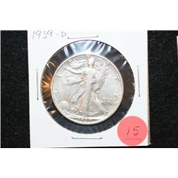 1939-D Walking Liberty Half Dollar