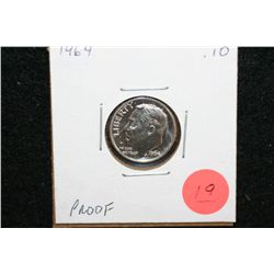 1964 Roosevelt Dime, Proof