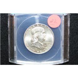 1950 Ben Franklin Half Dollar, ANACS Graded AU58