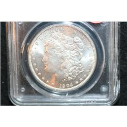 1904-O Silver Morgan $1,  PCGS Graded MS63