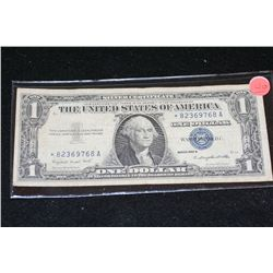 1957-A US Silver Certificate $1, Blue Seal, # *82369768A (Star Note)