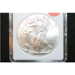 2011 Silver Eagle $1, MCPCG Graded MS70