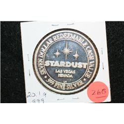 Stardust Resort $7 Gaming Token, .999 Fine 20.1 gram