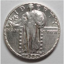 1930 Standing Liberty quarter  Solid AU