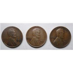 (3)  1924D  Lincoln pennys  2  VG and a Fine