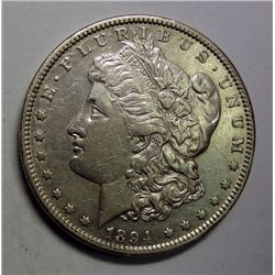 1894 MORGAN DOLLAR BORDERLINE AU