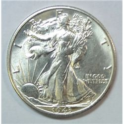 1943-S WALKING LIBERTY HALF NICE HIGH END GEM BU