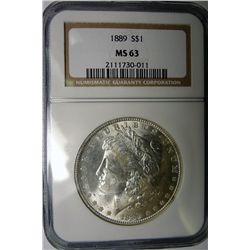 1889 MORGAN DOLLAR NGC MS63