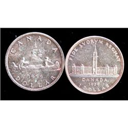 1939 AND 1959 CANADIAN SILVER DOLLARS