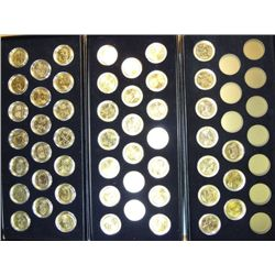24 Kt. GOLD PLATED STATE QUARTER SET, 1999-03