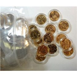 110 24 Kt. GOLD PLATED STATE QUATERS & 39 REG. STATE QUARTERS