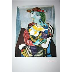 Limited Edition Picasso - Portrait of Marie Therese Walter - Collection Domaine Picasso