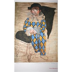 Limited Edition Picasso - Paul As A Harlequin - Collection Domaine Picasso