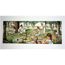Vic Herman Signed and Numbered Lithograph - Tortillas are the Staff of Life