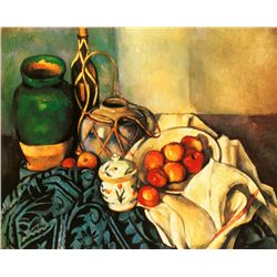 Still Life with Apples- Paul Cezane - Limited Edition On Canvas